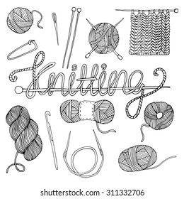 Hand drawn knitting collection