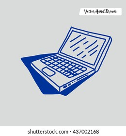 Hand Drawn Laptop