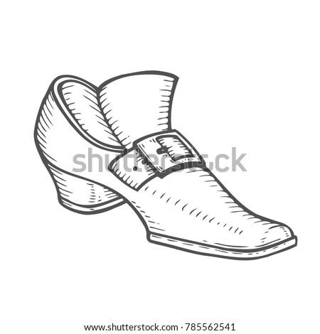 22b342d9528 Hand drawn leprechaun boot sketch for St. Patrick s Day. Irish festival  retro vintage decoration. Vector vintage illustration. - Vector