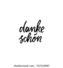Hand drawn lettering card. The inscription: danke schon . Perfect design for greeting cards, posters, T-shirts, banners, print invitations.