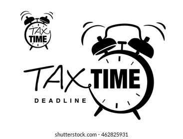 Hand drawn lettering on the topic tax time