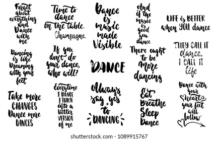 Life Better When You Dance Hand Stock Vector Royalty Free Best Dance Is Life Quotes