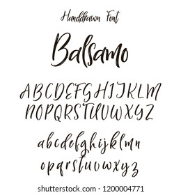 Hand drawn letters. Lettering and custom typography for your designs.Vector type.