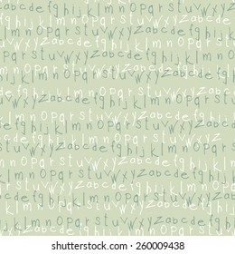 hand drawn letters seamless pattern. vector  background