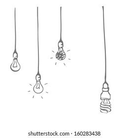 Hand drawn light bulb