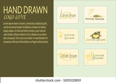 hand Drawn Logo Love is an elegant logo, it is perfect to be used as a logo for salon, barber shop, flower shop and others. A vector logo that's very easy to edit and color change