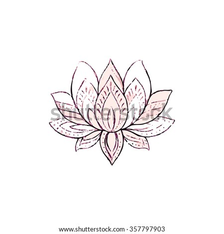 Hand drawn lotus flower vector illustration stock vector royalty hand drawn lotus flower vector illustration mightylinksfo