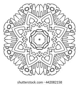 Hand drawn mandalas. Decorative elements. Vector illustration. Islam, Arabic, Indian, turkish, pakistan, chinese, ottoman motifs