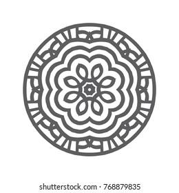 Hand drawn mandalas. Decorative elements. Vector illustration. Oriental pattern. Islam, Arabic, Indian, turkish, pakistan, chinese, ottoman motifs