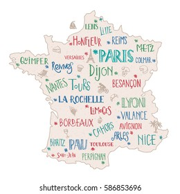 Map Of France With City Names.Nice France Map Images Stock Photos Vectors Shutterstock