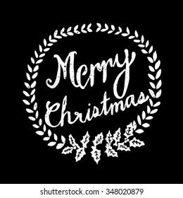 Hand Drawn Merry Christmas Blackboard Vector