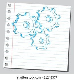 Hand drawn metal gears