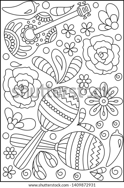 Llama, Sombrero, Mexican Style, Holiday Pattern. Set With Mexican ... | 620x409