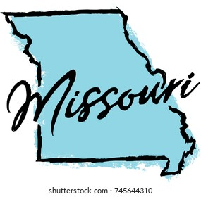 Hand Drawn Missouri State Design