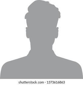 Hand drawn, modern, man avatar profile icon (or portrait icon). User flat avatar icon, sign, profile male symbol