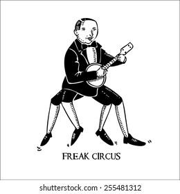 hand drawn musician from freak circus