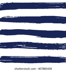 Hand drawn nautical striped vector pattern