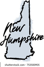 Hand Drawn New Hampshire State Illustration