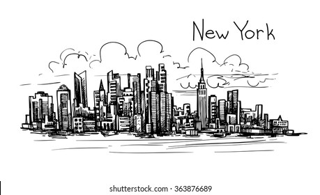 Hand drawn New York sketch for your design