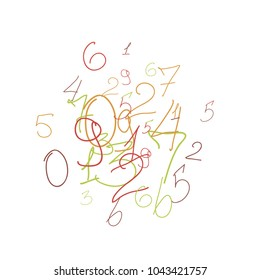 Scribbled Handwritten Numbers For Card Poster Banner Vector