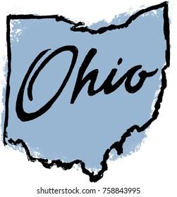 Hand Drawn Ohio State Illustration