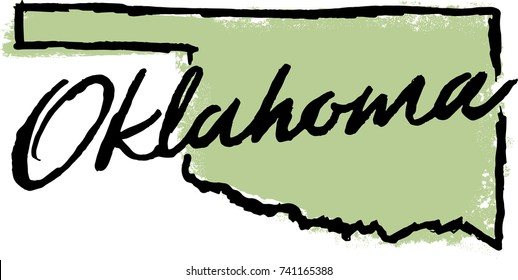 Hand Drawn Oklahoma State Design