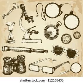 Hand drawn optics and glass things