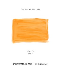 Hand drawn orange banner painted with oil or acrylic paint. Rough grunge texture. Asbtract design element. Vector illustration EPS 10.