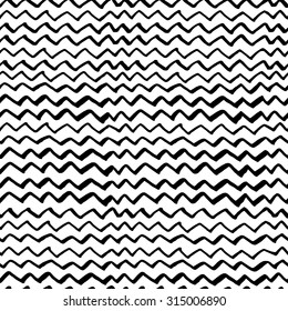 Hand drawn painted seamless pattern. Black and white colors. For invitation, web, textile, wallpaper, wrapping paper.
