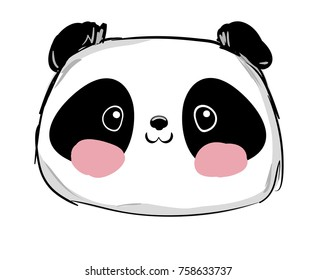 Hand Drawn Panda Bear Vector Illustration