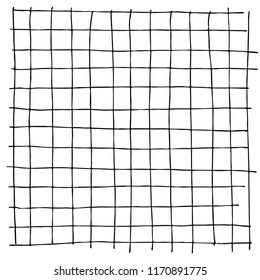 Hand drawn parallel lines creating simplistic grid structure