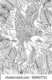 Parrot Color Drawing Images Stock Photos Vectors Shutterstock