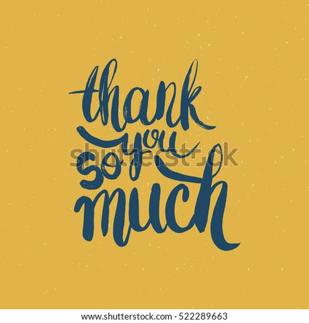 hand drawn phrase thank you much stock vector royalty free