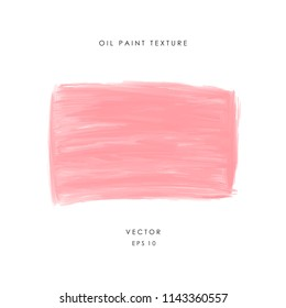 Hand drawn pink banner painted with oil or acrylic paint. Rough grunge texture. Asbtract design element. Vector illustration EPS 10.