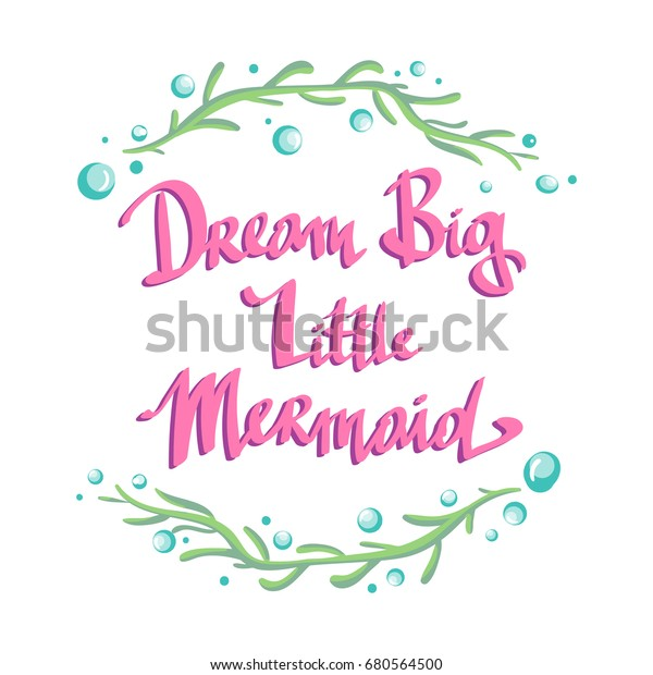 Hand Drawn Poster Lettering Quote Dream Stock Image ...