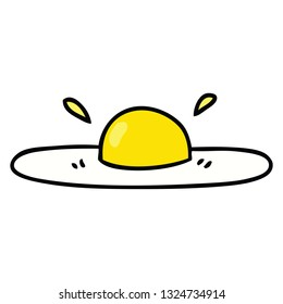 hand drawn quirky cartoon fried egg