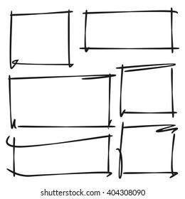 hand drawn rectangle frames