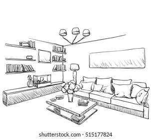 Merveilleux Furniture Sketch. Home