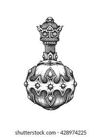 Hand drawn royal globus cruciger. Vector illustration