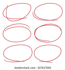 hand drawn scribble circles, marker elements