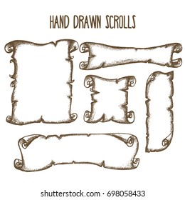 Hand drawn scrolls