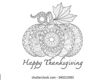 hand drawn sea thanksgiving pumpkin 260nw