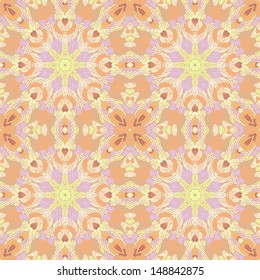 Hand drawn seamless abstract pattern. Vector illustration