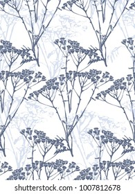 hand drawn seamless  floral background