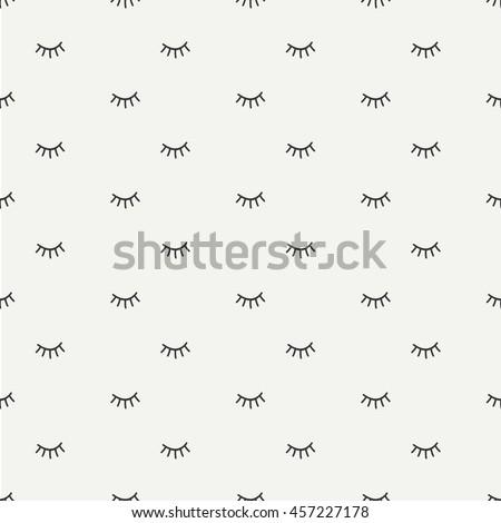 hand drawn seamless pattern close 450w 457227178 hand drawn seamless pattern close eyes stock vector (royalty free