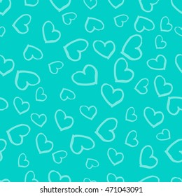 Hand drawn seamless pattern with hearts. Abstract heart background. Vector illustration.