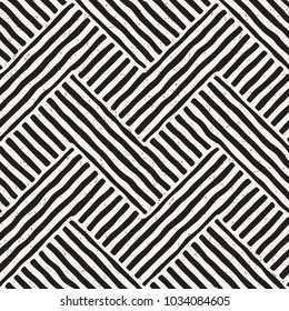 Hand drawn seamless repeating pattern with lines tiling. Grungy freehand background texture.