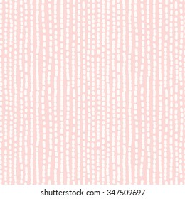 Hand drawn seamless rose and white irregular dotted line texture, vector illustration