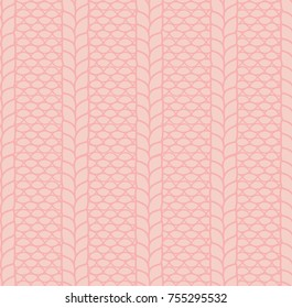 Hand drawn seamless vector pattern of a knitted garter stitch with cables. Design concept for Christmas, winter, kids textile print, wallpaper, wrapping paper.
