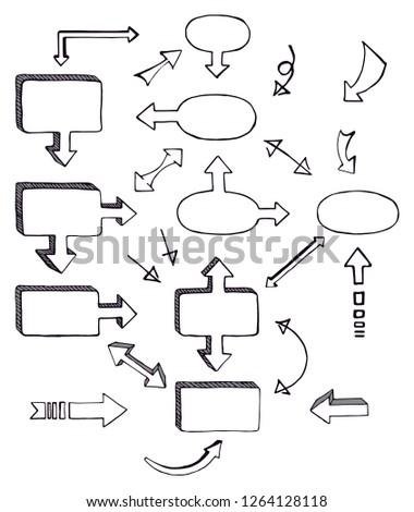 Hand Drawing A Blockdiagram Royalty Free Stock Photos Image